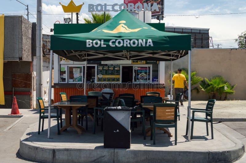 Tijuana burrito chain, Bol Corona fotografia royalty free