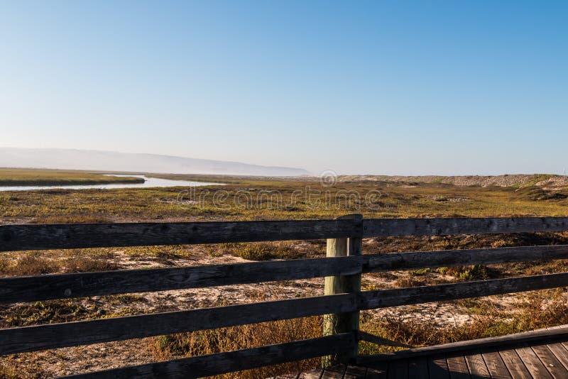 Tijuana River National Estuarine Reserve de negligência em San Diego fotografia de stock