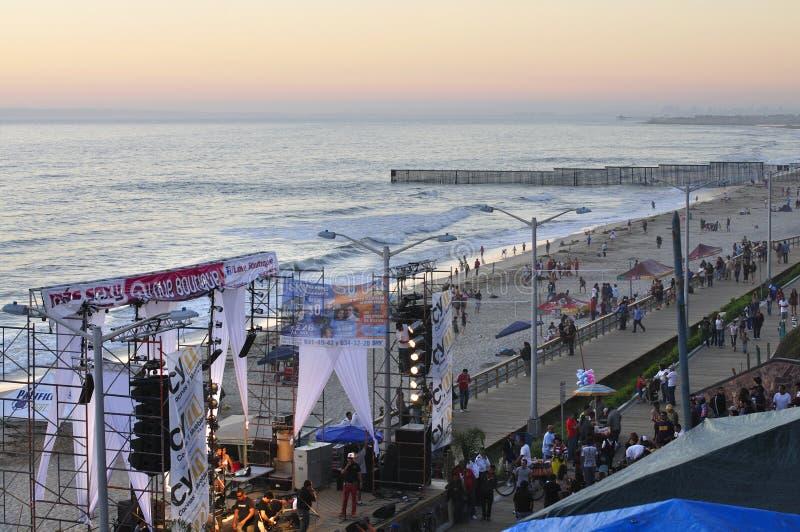 Tijuana strandfestival arkivbilder