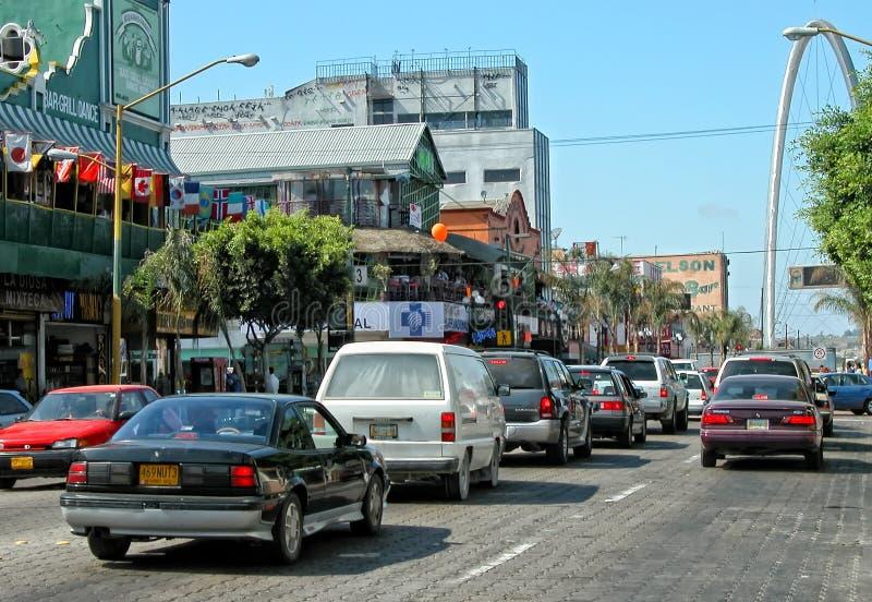 Tijuana Traffic, Mexiko lizenzfreie stockbilder