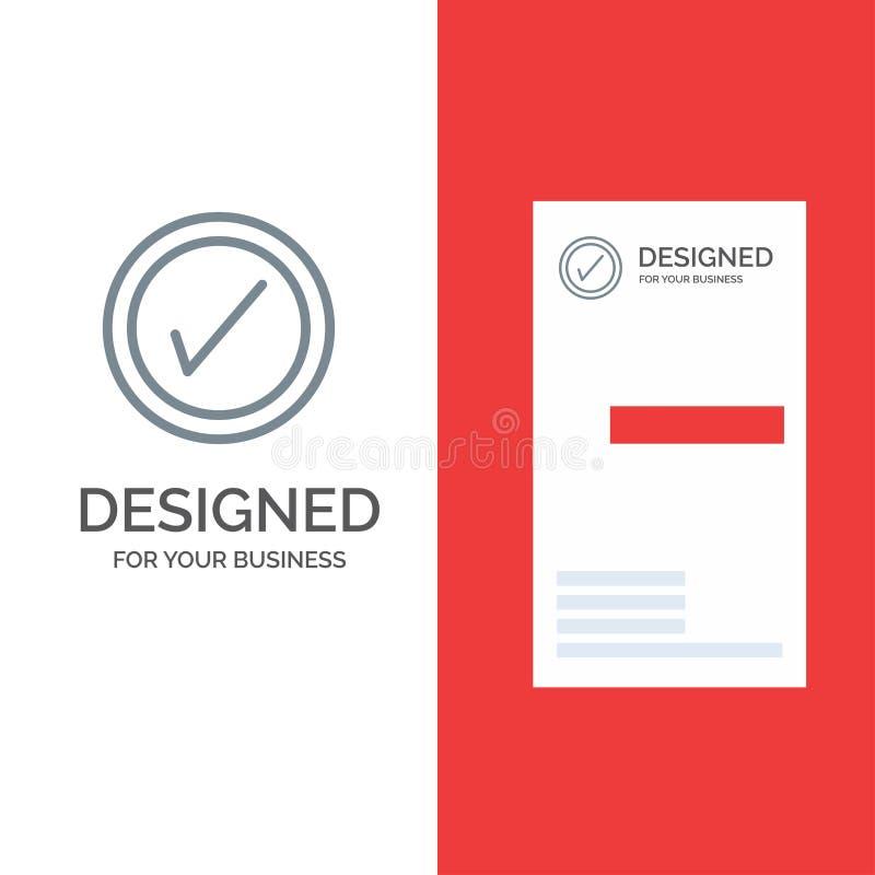 Tik, Interface, Gebruiker Grey Logo Design en Visitekaartjemalplaatje stock illustratie