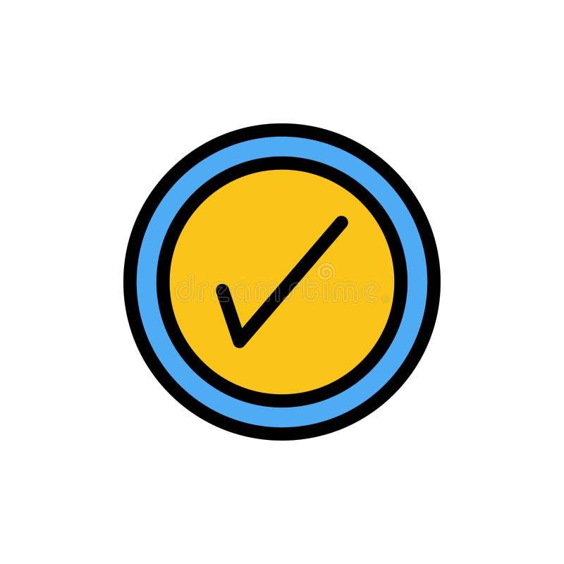 Tik, Interface, Pictogram van de Gebruikers het Vlakke Kleur Het vectormalplaatje van de pictogrambanner royalty-vrije illustratie