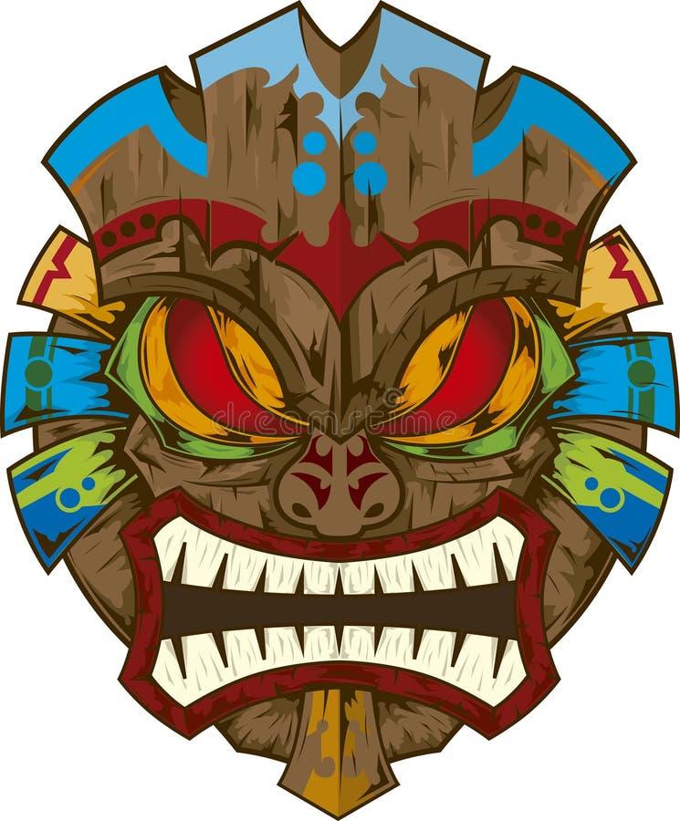Tik maska ilustracji