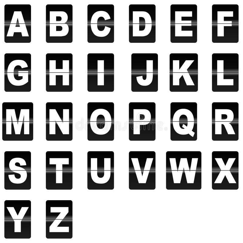 Tik onderaan brieven royalty-vrije stock afbeelding