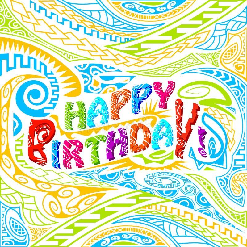 Tik stylu wszystkiego najlepszego z okazji urodzin typografia ilustracji