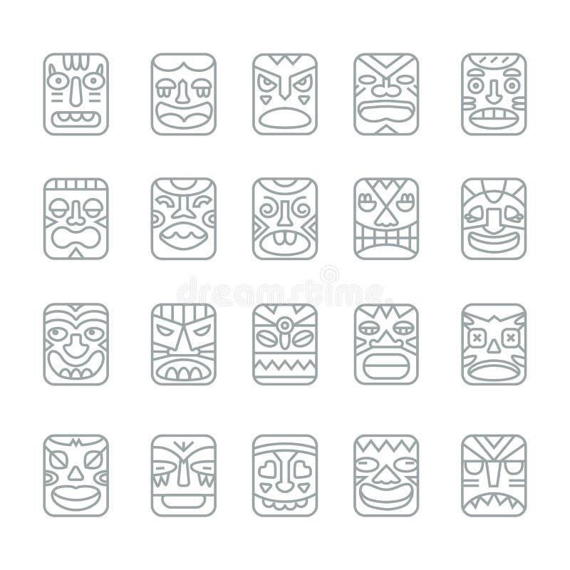 Tik totemu uśmiechu emocj twarzy kaganowie wykładają ikony kolekci se
