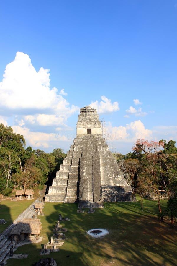 tikal危地马拉玛雅的寺庙 免版税库存照片
