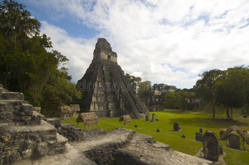 tikal极大的危地马拉的广场 库存照片