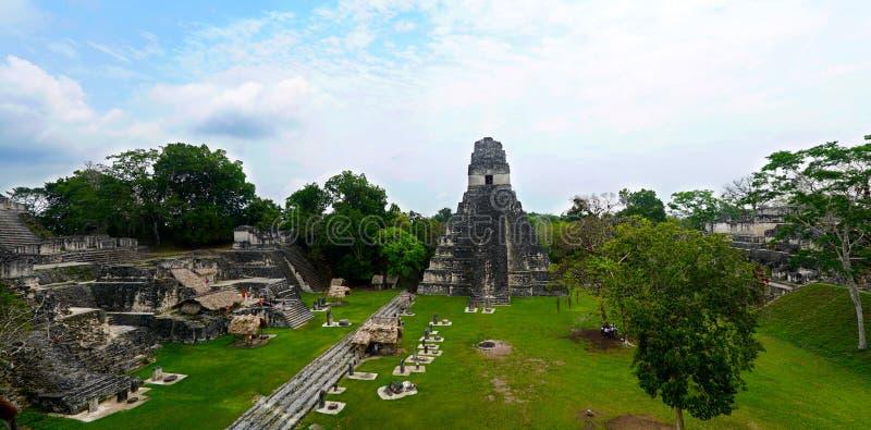 Tikal, Kapitaal van Maya Mayan Civilization in Guatemala stock foto