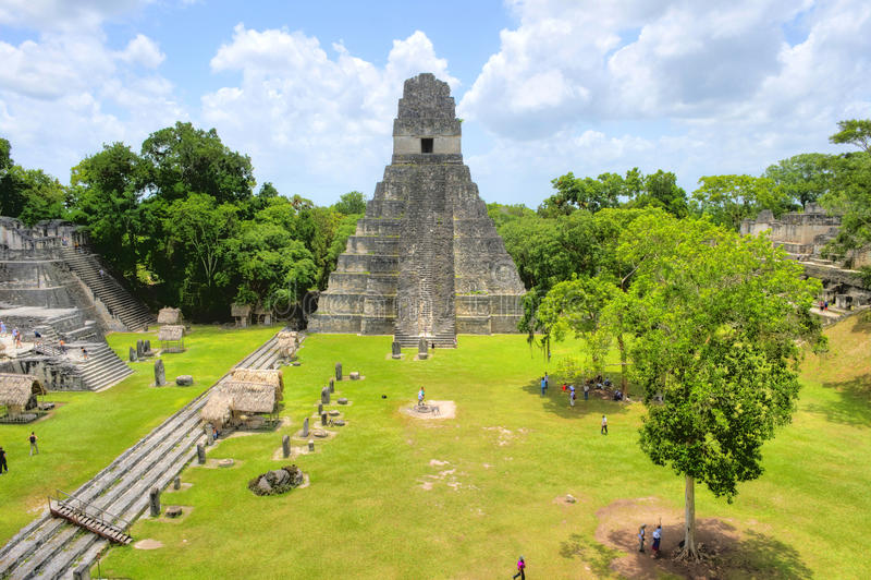 Tikal nationalpark arkivfoton
