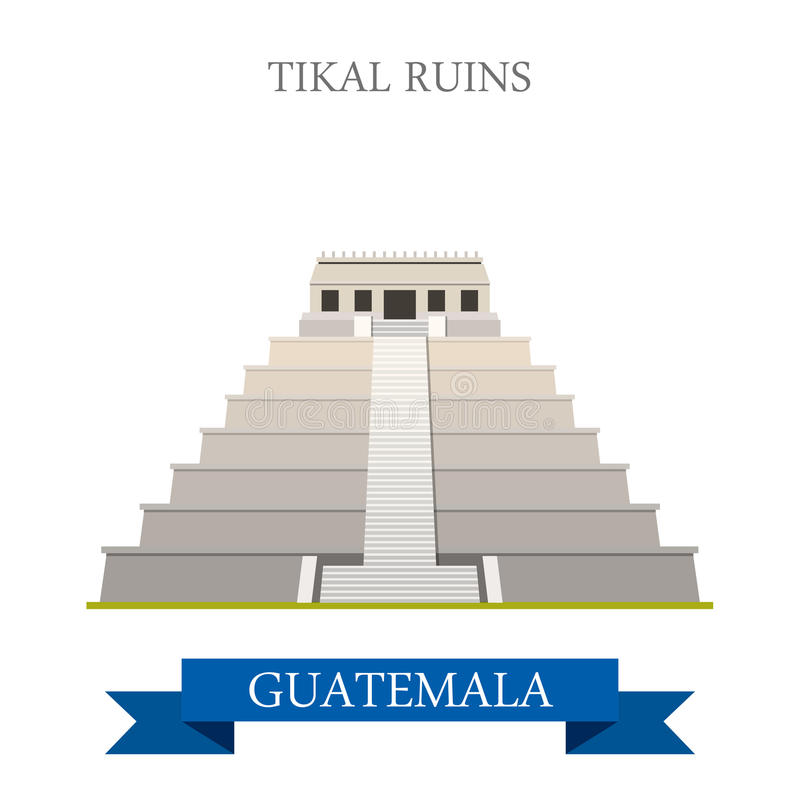 TIKAL GUATEMALA MAYAN RUIN stock image. Illustration of ...