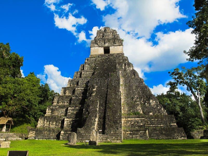 Tikal tempel I i Guatemala royaltyfria foton