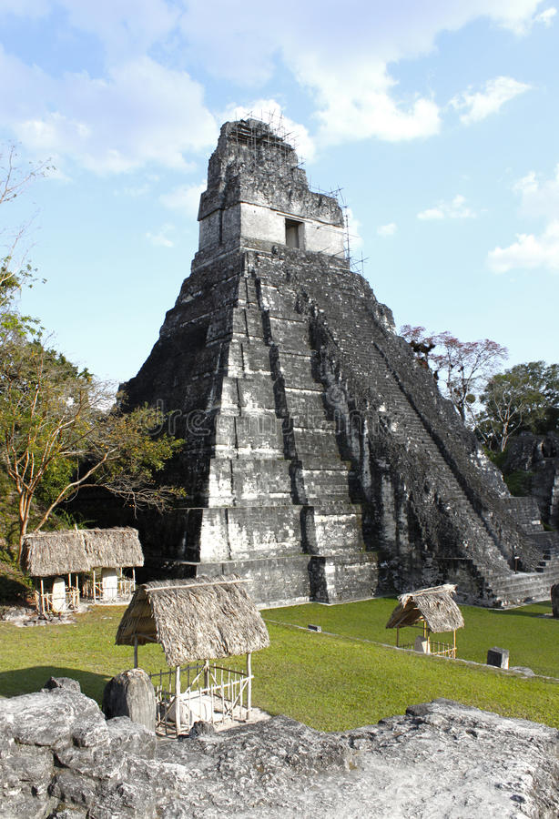 Tikal Temple 1 royalty free stock image