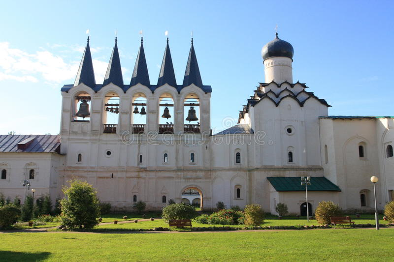 The Tikhvin monastery royalty free stock images