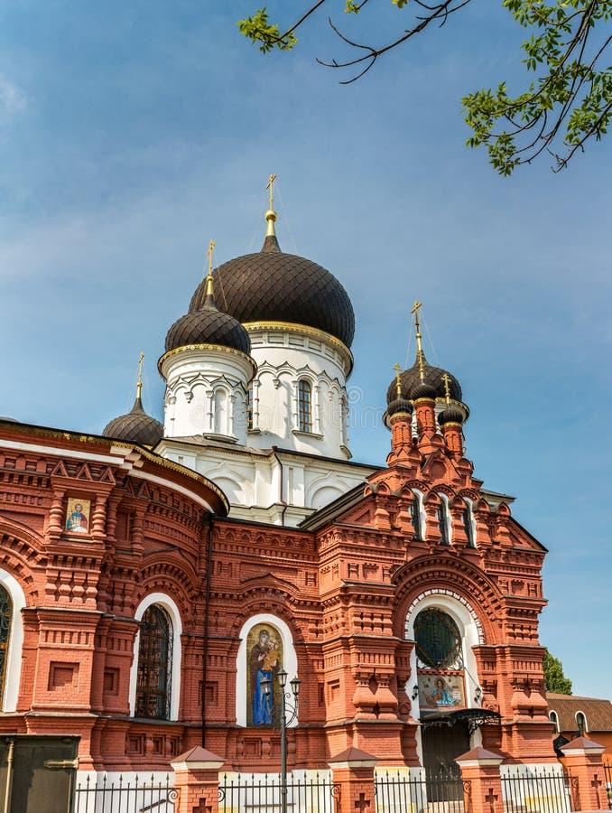 Tikhvin Theotokos的教会在Noginsk -莫斯科地区,俄罗斯 免版税图库摄影