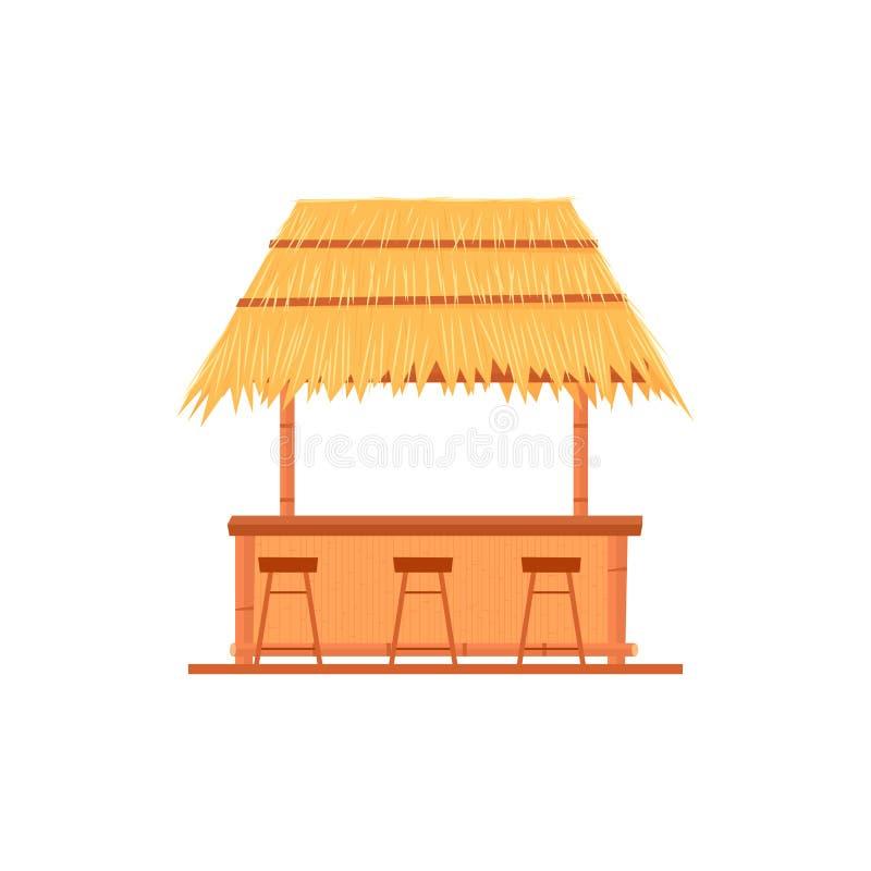 Tiki酒吧小屋 向量例证