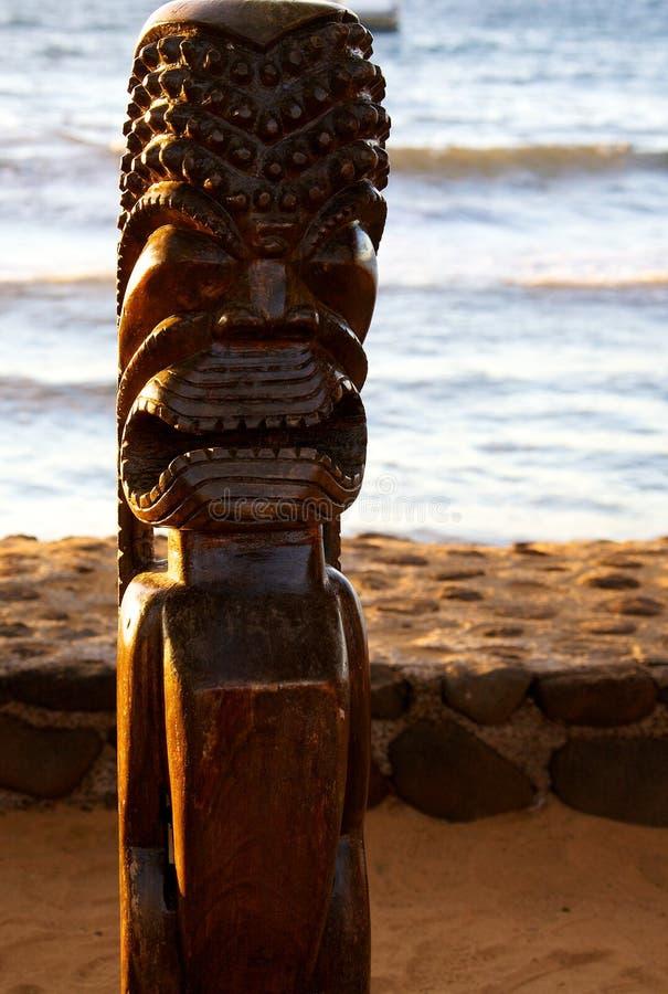 Tiki雕象 库存照片