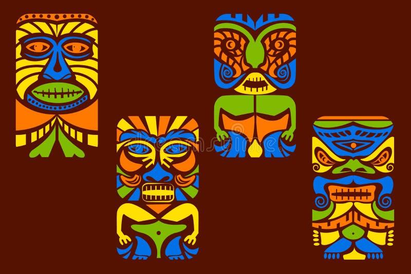 Tiki面具 向量例证