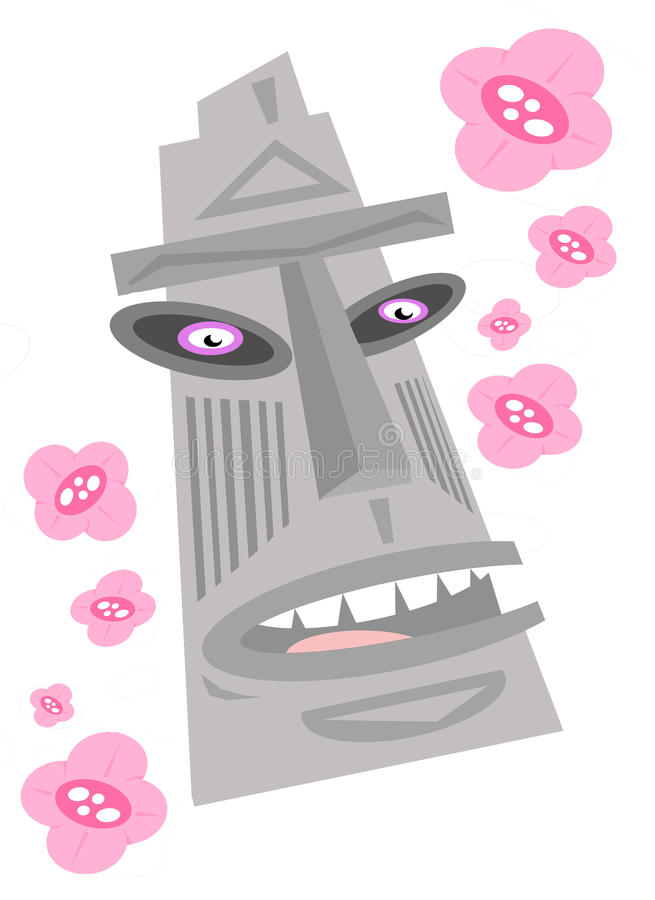 Tiki royaltyfri bild