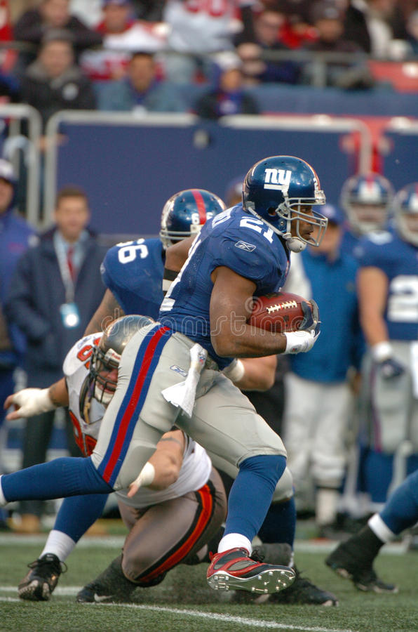 Tiki Barber. New York Giants RB Tiki Barber. (Image taken from color slide royalty free stock photo
