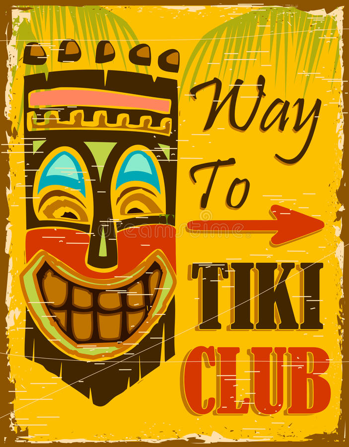 Tiki Club vector illustration