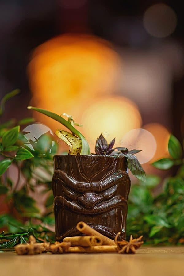 Tiki Cocktail suddighetsbakgrund royaltyfria bilder