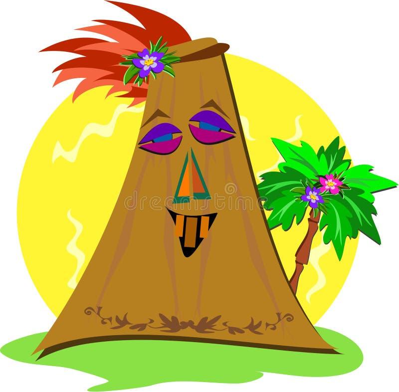 Tiki estilizado com palmeira ilustração do vetor
