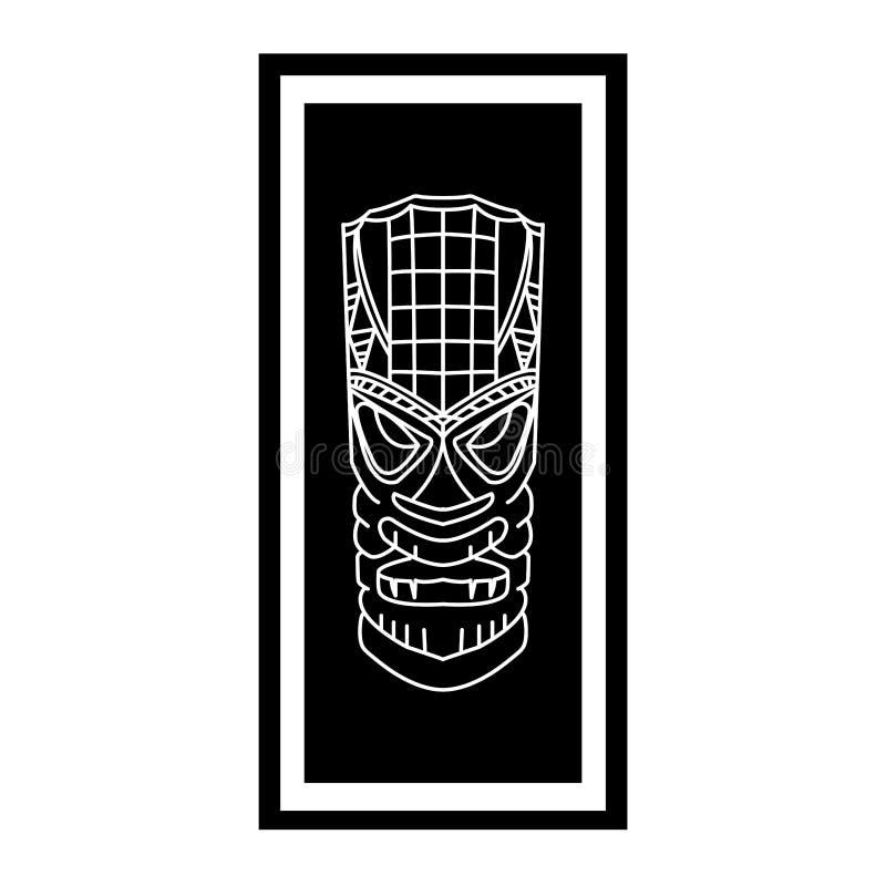 Tiki f?rebild royaltyfri illustrationer