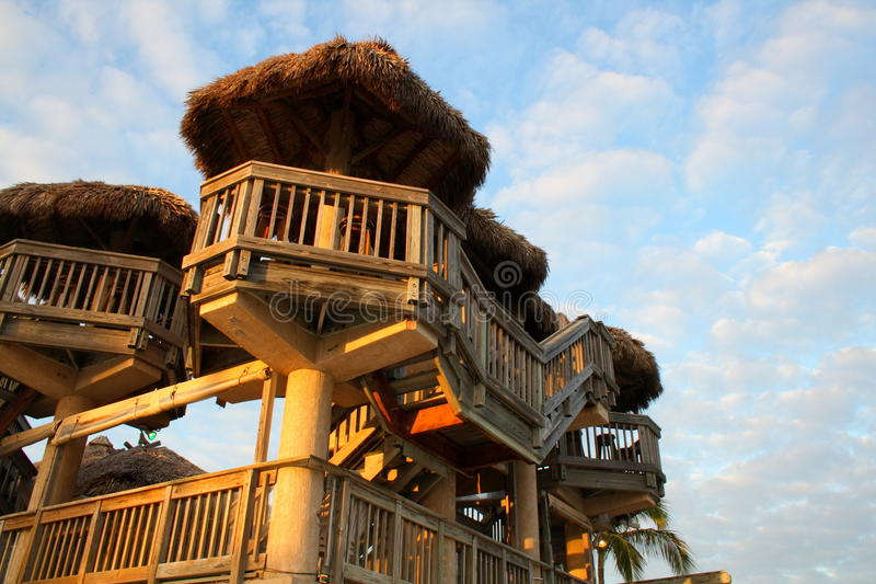 Download Tiki Hut towers stock image. Image of details, towers - 11857553