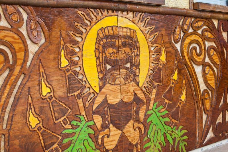 Tiki. This image shows a tourist statue of a lucky tiki royalty free stock photos
