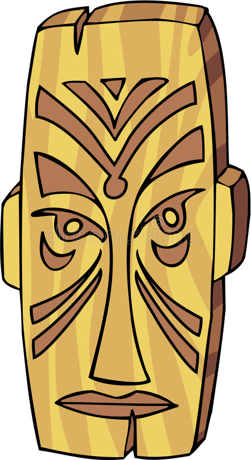 Tiki Mask stock vector  Illustration of hawaiian, head