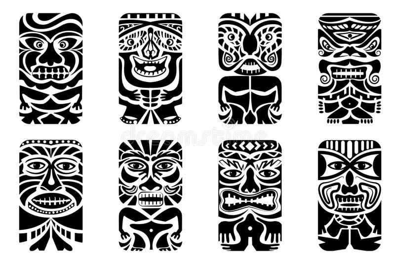Tiki Mask stock illustratie