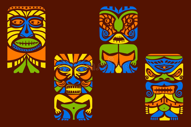 Tiki Mask illustration de vecteur
