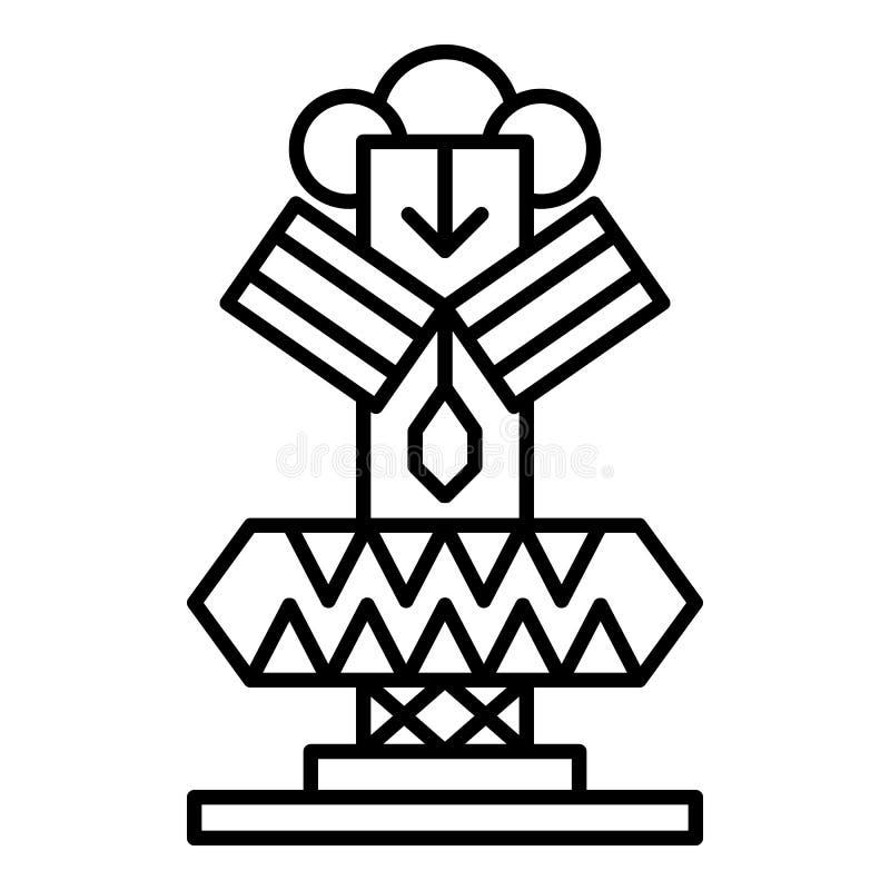 Tiki mask icon, outline style. Tiki mask icon. Outline tiki mask vector icon for web design isolated on white background vector illustration