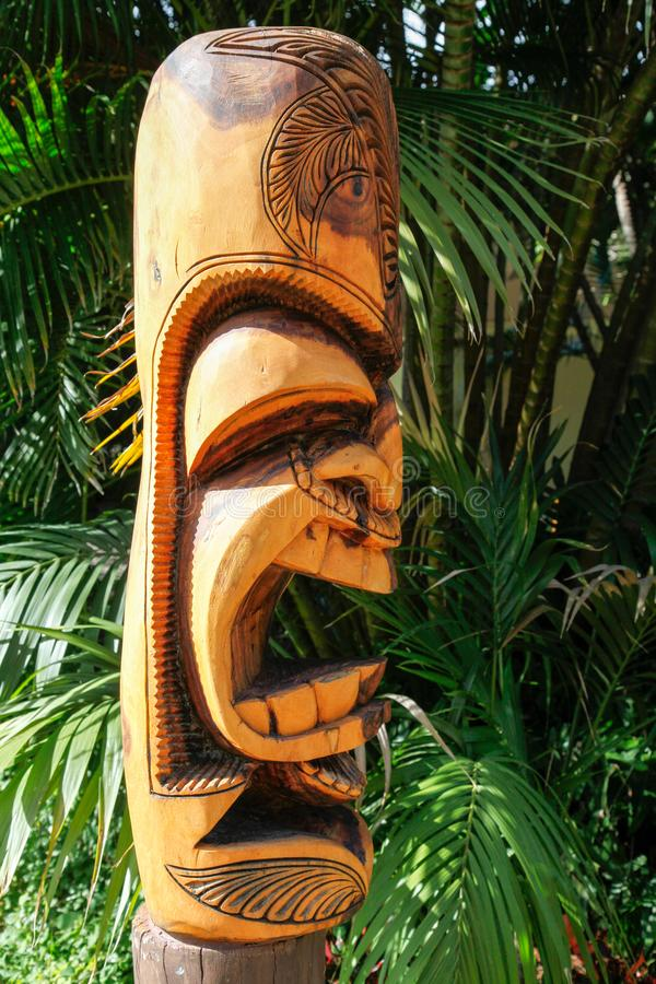 Tiki Profile arrabbiato immagine stock libera da diritti