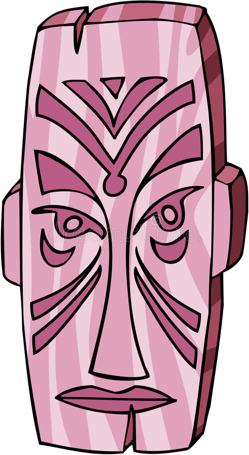 Tiki Maske vektor abbildung