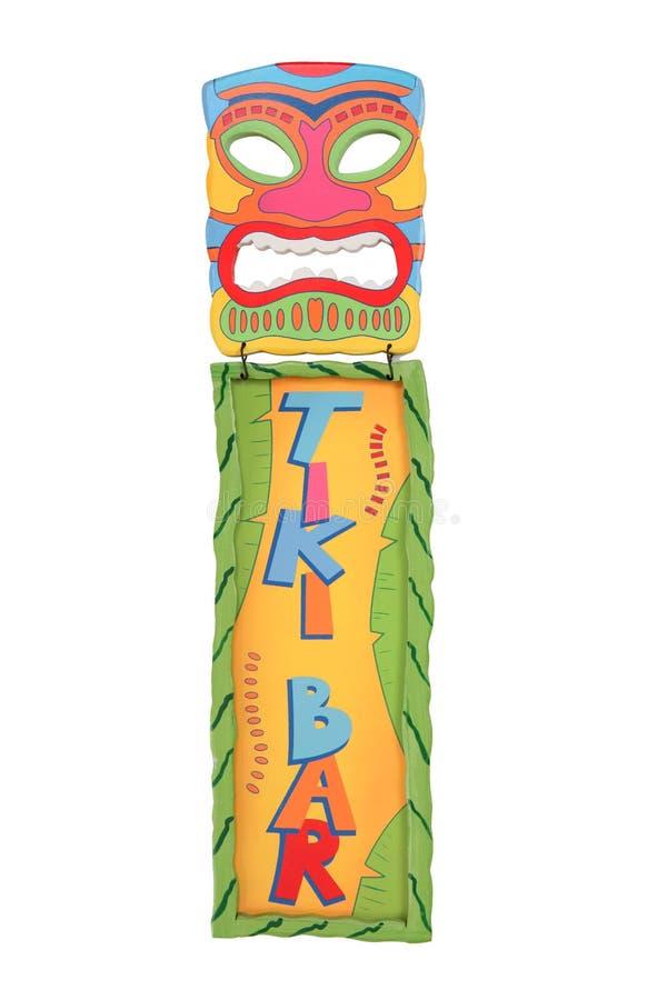 Tiki Stab-Schablone und Zeichen stockfotos