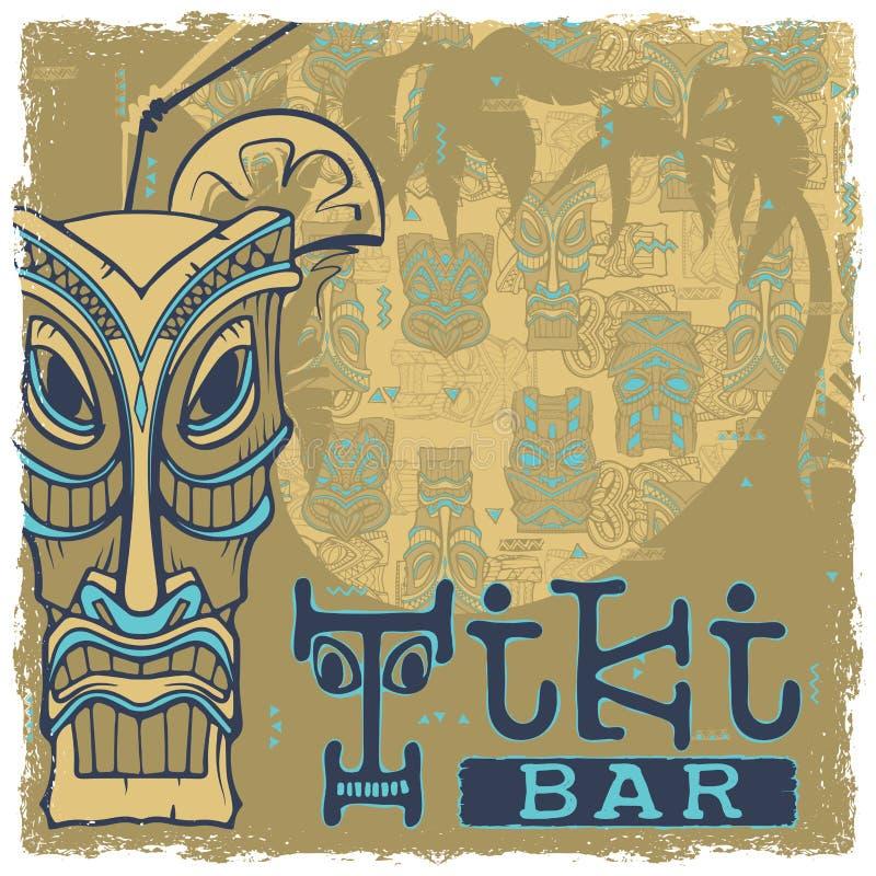 Tiki Stangen-Zeichen lizenzfreie abbildung