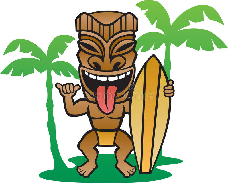 Tiki Surfer stock illustratie