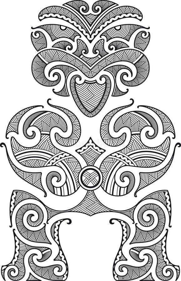 tiki tattoo конструкции иллюстрация вектора