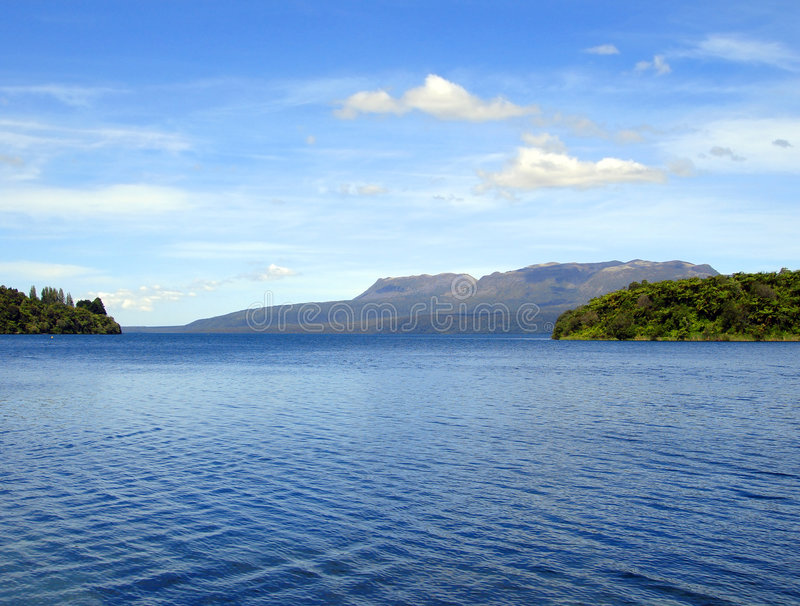tikitapu neuf la zélande de rotorua de lac bleu photos stock