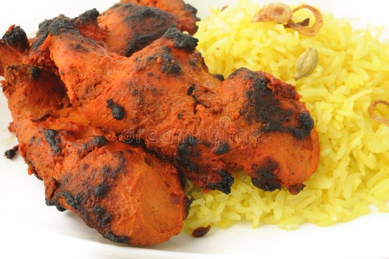 Tikka del pollo di Tandoori fotografia stock