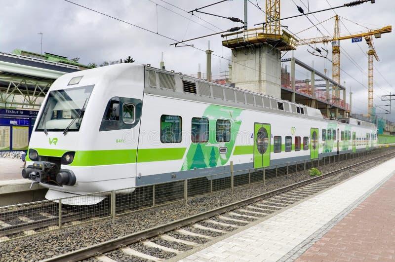 TIKKURILA, FINLAND -27 JUNE: Modern passangers train. stock photos