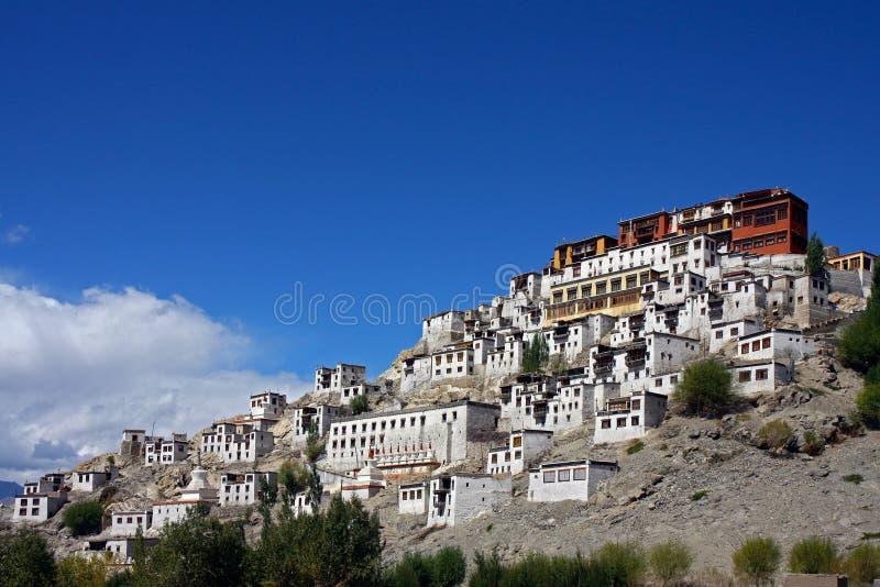 Tikse Kloster in Indien stockbild
