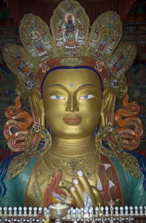 tiksey för buddha framtida india ladakhmaitreya royaltyfri foto
