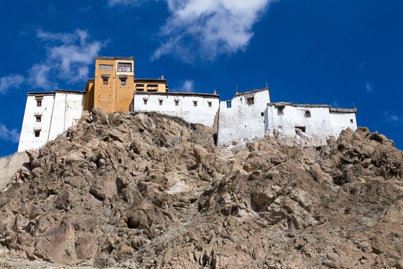 Tikseyklooster in Ladakh, India royalty-vrije stock afbeelding
