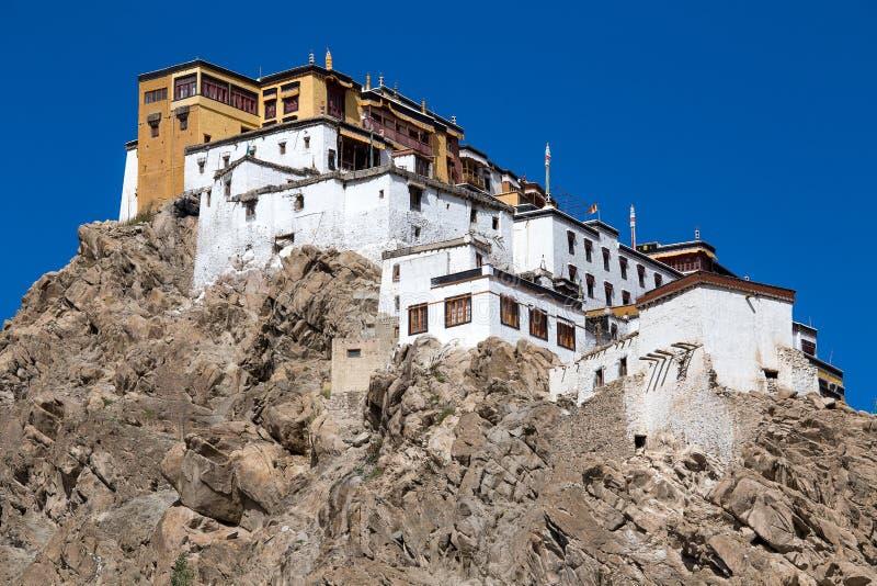 Tikseyklooster in Ladakh, India, royalty-vrije stock afbeelding