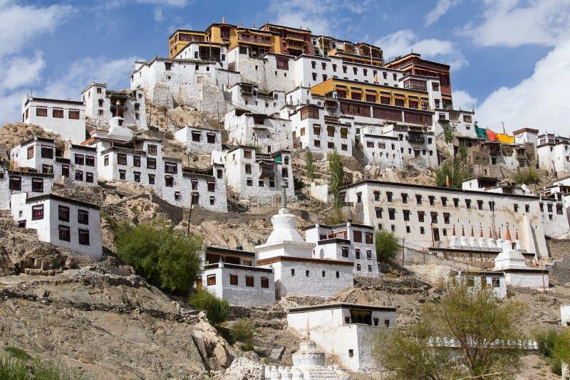 Tikseyklooster in Ladakh, India royalty-vrije stock foto