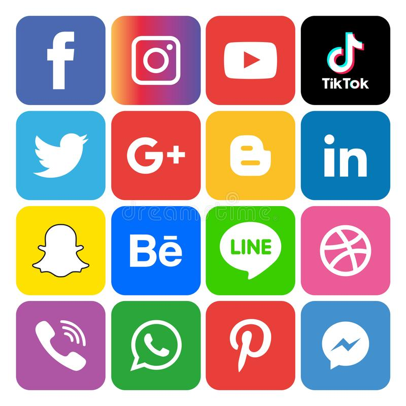Social media icons set Logo Vector Illustrator Background. With all the new tools and platforms constantly emerging, it's very easy to fall into the trap royalty free illustration