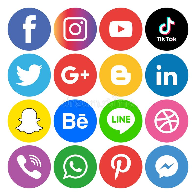 Social media icons set Logo Vector Illustrator Background. With all the new tools and platforms constantly emerging, it's very easy to fall into the trap vector illustration